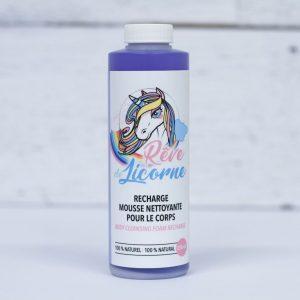 Recharge mousse nettoyante pour le corps Rêve de licorne 250ml