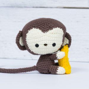Sam le singe (fait à la main au crochet)