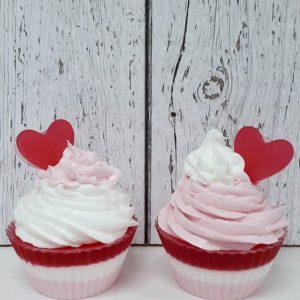 Savon cupcake Saint-Valentin – Love