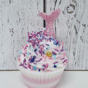 Savon cupcake Sirène rose – Panier de fruits