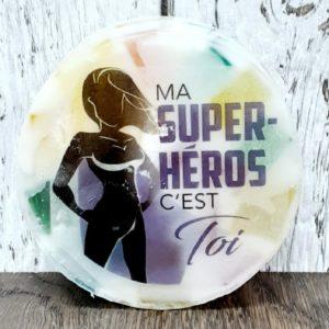 Savon personnalisé MA SUPER-HÉROS C'EST TOI – fragrance fruité
