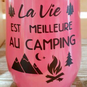 La vie est meilleure au camping – rose