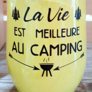 La vie est meilleure au camping – jaune
